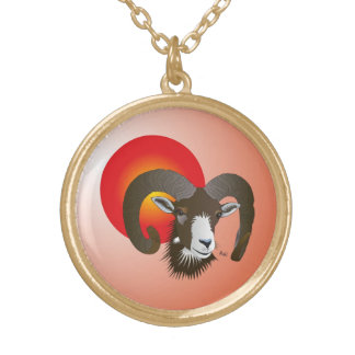 Aries - star circle character necklace