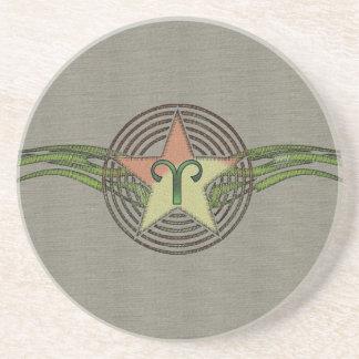 Aries Star Drink Coasters