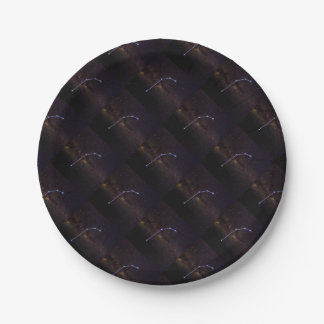 Aries Star Signs Paper Plate