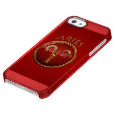 Aries Symbol Clear iPhone SE/5/5s Case