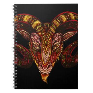 Aries Symbol Notebook
