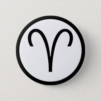 Aries Symbol Pinback Button