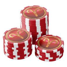 Aries Symbol Poker Chips Set