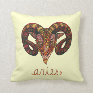 Aries Symbol Throw Pillow