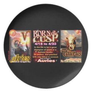 Aries Taurus zodiac Cusp by valxart Dinner Plates