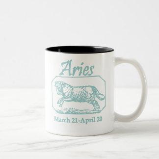 Aries Teal Two-Tone Coffee Mug