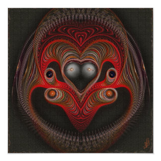 Aries the Ram Abstract Art 5.25x5.25 Square Paper Invitation Card
