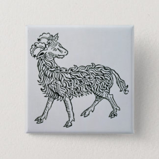 Aries (the Ram) an illustration from the 'Poeticon Button
