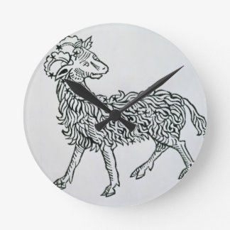 Aries (the Ram) an illustration from the 'Poeticon Round Clock
