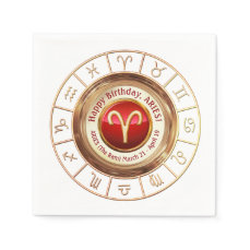 Aries - The Ram Astrological Sign Napkin