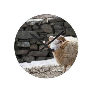 Aries the Ram Round Wallclock