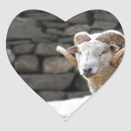 Aries the Ram Heart Sticker