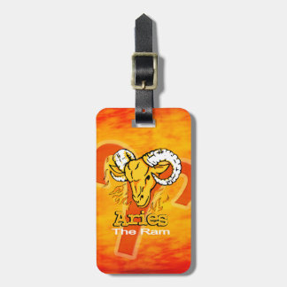 Aries The Ram horoscope id luggage tag