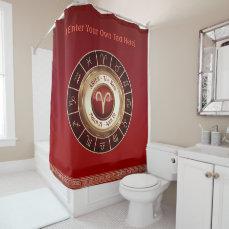 Aries - The Ram Horoscope Symbol Shower Curtain