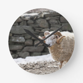 Aries the Ram in March Round Clock