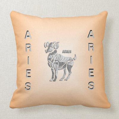 Aries the Ram Light Zodiac American Mojo Pillow