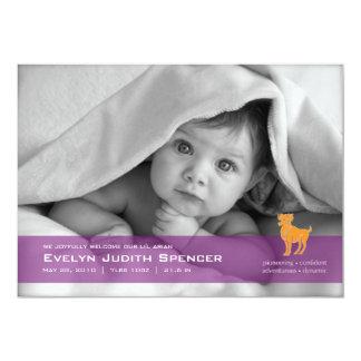 Aries the Ram Photo Birth Announcement Card