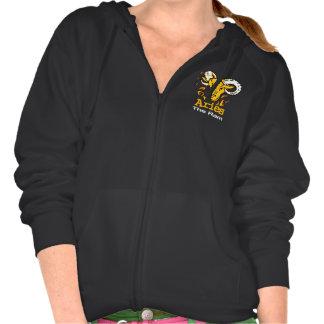 Aries the ram zodiac astrology ladies zip hoodie