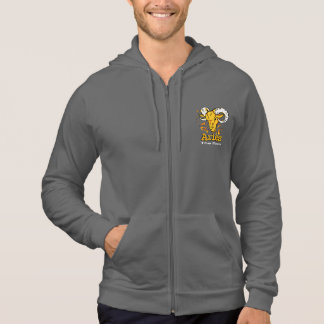 Aries the ram zodiac astrology mens zip-up hoodie