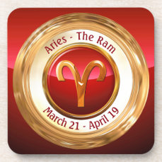 Aries - The Ram Zodiac Sign Beverage Coaster