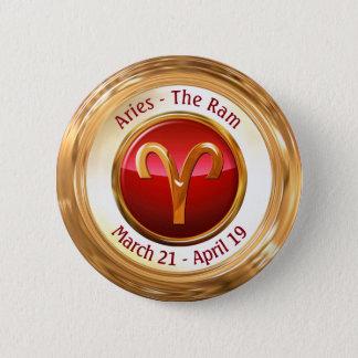 Aries - The Ram Zodiac Sign Button