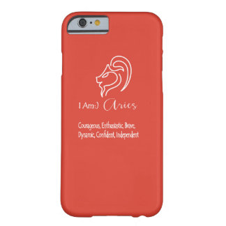 Aries The Ram Zodiac Sign Fiesta Red Barely There iPhone 6 Case