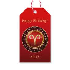 ARIES - The Ram Zodiac Sign Gift Tags