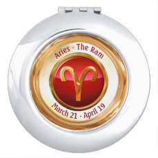 Aries - The Ram Zodiac Sign Makeup Mirror