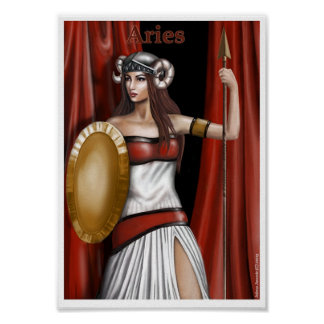 Aries the zodiac sign poster