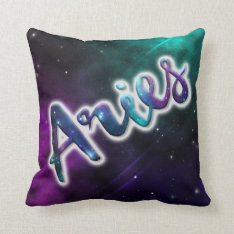 Aries Throw Pillow 16x16 at Zazzle