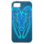 Aries tribal azul complejo iPhone 5 protector
