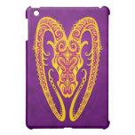 Aries tribal púrpura y amarillo complejo