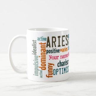 Aries wordcloud mug