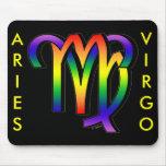 Aries y virgo de GLBT Alfombrilla De Ratones
