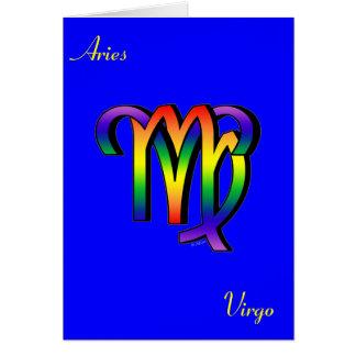 Aries y virgo de GLBT Tarjeta De Felicitación