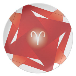 ARIES-YANTRA PARTY PLATES
