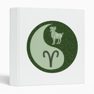 Aries Yin Yang 3 Ring Binders