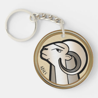 Aries Z Double-Sided Round Acrylic Keychain