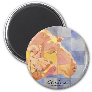 Aries Zodiac 2 Inch Round Magnet
