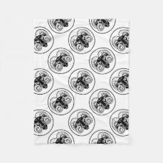 Aries Zodiac Astrology Ram Sign Fleece Blanket