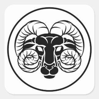 Aries Zodiac Astrology Ram Sign Square Sticker