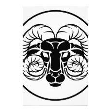 Aries Zodiac Astrology Ram Sign Stationery