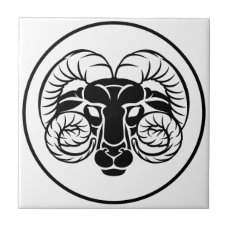 Aries Zodiac Astrology Ram Sign Tile