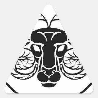 Aries Zodiac Astrology Ram Sign Triangle Sticker