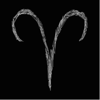 Aries. Zodiac Astrology Sign. Black. Cutout