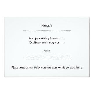 Aries. Zodiac Astrology Sign. Black. 3.5x5 Paper Invitation Card