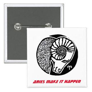 Aries - Zodiac Badge square Pinback Button