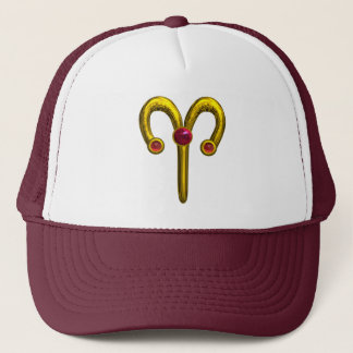 ARIES ZODIAC BIRTHDAY JEWEL TRUCKER HAT