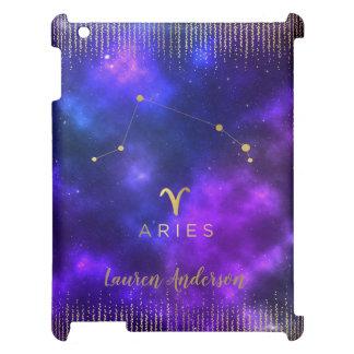 Aries Zodiac Custom Name iPad Case