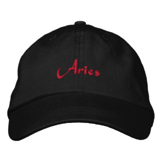 Aries Zodiac Embroidered Cap / Hat